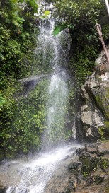 Small waterfalls in Batu caves
