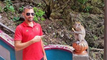 Monkeys at Batu caves