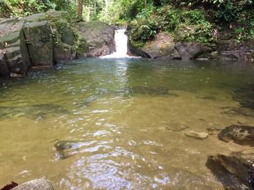 Small pond at waterfalls